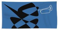 Hand Towel featuring the digital art Bugle In Blue by David Bridburg