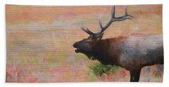 Bugling Elk Wood Panel Bath Towel