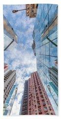 Building Perspective Hong Kong Bath Towel