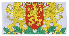 Hand Towel featuring the drawing Bulgaria Coat Of Arms by Movie Poster Prints