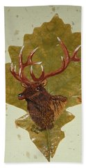 Bull Elk Hand Towel by Ralph Root