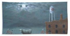 Bull Moon Ride Bath Towel