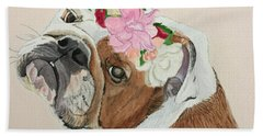 Bulldog Bridesmaid Hand Towel