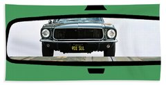 Bullitt, Rear View Mirror, Steve Mcqueen Hand Towel