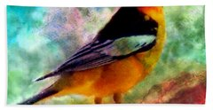 Bullock's Oriole Mountain Birds Bath Towel