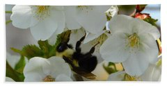 Bumble Bee In Hiding Bath Towel