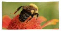 Bath Towel featuring the photograph Bumblebee by Chris Berry