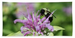 Bumblebee On Bee Balm Hand Towel