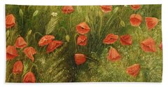 Bunch Of Poppies Bath Towel