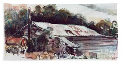 Hand Towel featuring the painting Buninyong Dairy by Ryn Shell