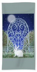 Bunny, Gate And Moon Hand Towel