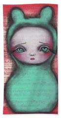 Bunny Girl Bath Towel by Abril Andrade Griffith