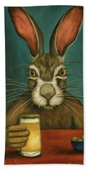 Bunny Hops Hand Towel by Leah Saulnier The Painting Maniac