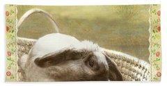 Bunny In Easter Basket Hand Towel