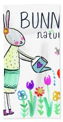 Bunny Nature Hand Towel
