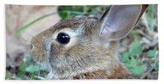 Bunny Portrait Hand Towel