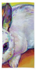 Bath Towel featuring the painting Bunny by Robert Phelps