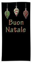 Buon Natale Italian Merry Christmas Hand Towel