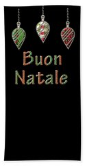 Buon Natale Italian Merry Christmas Bath Towel