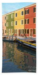 Bath Towel featuring the photograph Burano Italy 1 by Rebecca Margraf