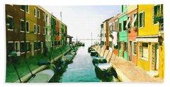 Burano Venice Bath Towel by Kai Saarto
