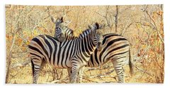 Burchells Zebras Hand Towel by Betty-Anne McDonald