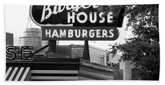 Burger House B W 062218 Hand Towel