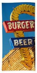 Burgers And Beer Bath Towel