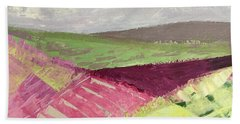 Burgundy Fields Hand Towel