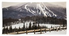 Burke Mountain And Fence Hand Towel