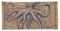 Burlap Octopus Bath Towel