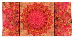 Burning Bush Floral Design  Hand Towel by Joy Nichols
