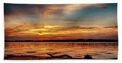 Burning Sky Bath Towel by Doug Long