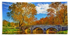Burnside Bridge At Antietam Hand Towel