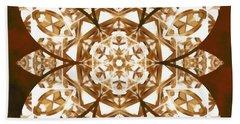 Hand Towel featuring the digital art Burnt Geomatrix by Derek Gedney
