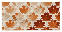 Hand Towel featuring the digital art Burnt Sienna Autumn Leaves by Methune Hively