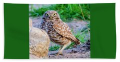 Burrowing Owl Bath Towel