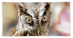 Burrowing Owl Portrait Bath Towel
