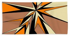 Burst Of Orange 2 Hand Towel by Linda Velasquez