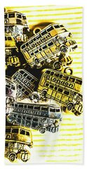 Bus Lines Hand Towel