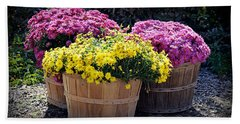 Bath Towel featuring the photograph Bushels Of Fall Flowers by AJ Schibig