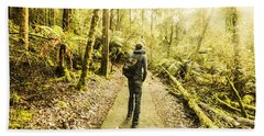 Bath Towel featuring the photograph Bushwalking Tasmania by Jorgo Photography - Wall Art Gallery