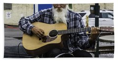 Bath Towel featuring the photograph Busking In New Orleans, Louisiana by Chris Coffee