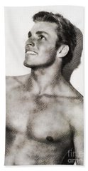Buster Crabbe, Vintage Actor By John Springfield Hand Towel