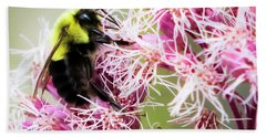 Hand Towel featuring the photograph Busy As A Bumblebee by Ricky L Jones