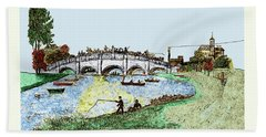 Busy Richmond Bridge Hand Towel