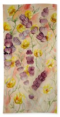 Buttercups And Lavendar Hand Towel