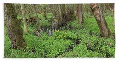 Buttercups In Wetlands Bath Towel by Michal Boubin