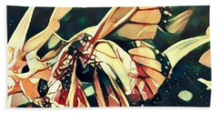 Butterfies In Love Abstract Hand Towel by David Mckinney