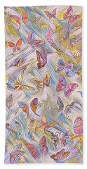 Butterflies Abstract  Bath Towel